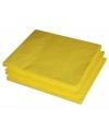 2-laags servetten geel 25 stuks