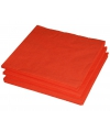2-laags servetten oranje kleur  25 stuks