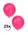 Fluor roze ballonnen in zakje van 25 stuks