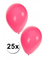 Roze ballonnen in zakje van 25 stuks