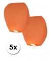 5x Papieren wensballon oranje