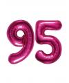 95 jaar jublileum ballonnen roze