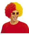Spanje supporterspruiken afro