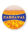 Carnaval thema onderzetters 25 stuks
