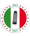 Viltjes met Italiaanse vlag opdruk