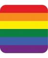 Viltjes met Regenboog vlag opdruk