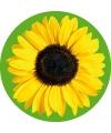 10 ronde onderzetters met zonnebloem