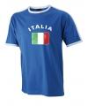 Blauw t-shirt met Italy print heren