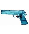 Transparante waterpistolen blauw