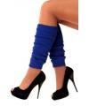 Blauwe sokken en beenwarmers