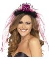 Vrijgezellen tiara Bride to Be roze