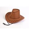 Bruine kids cowboy hoed