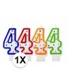 Kaars in de vorm van het getal 4