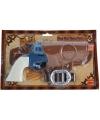 Revolver blauw met holster en riem