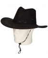 Cowboyhoeden zwart suede look