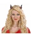 Horror duivels hoorns met elastiek