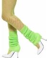 Fluoriscerend groene beenwarmers