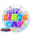Folie ballon met helium Happy Birthday
