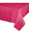 Gekleurde tafellaken fuchsia roze