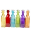 Deco flessen gekleurd 27 cm