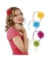 Gekleurde haarbandjes met bloem