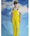 Carnavalskleding gele tuinbroek voor volwassenen