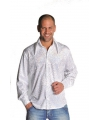 Witte glamour blouse mannen