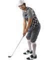 Golfers outfit zwart/wit voor heren