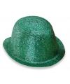 Groene glitters bolhoedjes