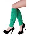 Groen gekleurde beenwarmers