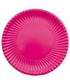 Grote bbq borden fuchsia roze 29 cm