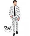 Grote maten Business suit met Stormtrooper print