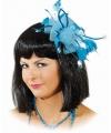 Haar ornament blauwe bloem