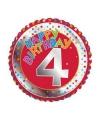 Happy Birthday 4 jaar verjaardag