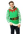 Kerstmis trui met elfen print