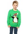 Kerstmis trui met pinguins print