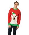 Kerstmis trui met ijsberen print