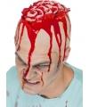 Horror hersenen pruik/kapje