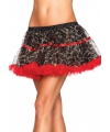Rood met luipaard print luxe petticoat
