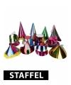Gekleurde papieren feesthoedjes kortingspakket