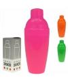 Plastic shaker om cocktails te maken 350 ml