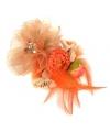 Oranje koningsdag accessoire met bloemen