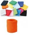 Voordelig zweetbandje in oranje kleur
