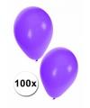 Party ballonnen paars, 100 st