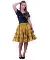 Verkleed petticoat goud 5-laags