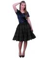 Zwarte verkleed petticoat 5-laags