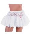 Korte witte petticoat