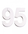 Cijfer 95 wit piepschuim