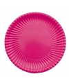 Fuchsia roze kartonnen bordjes 23 cm