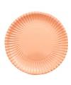 Perzik kleur kartonnen bordjes 23 cm